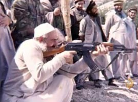 Abdullah Azzam in Afghanistan.
